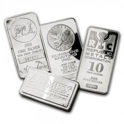 10 Oz Assorted .999 Fine Silver Bar