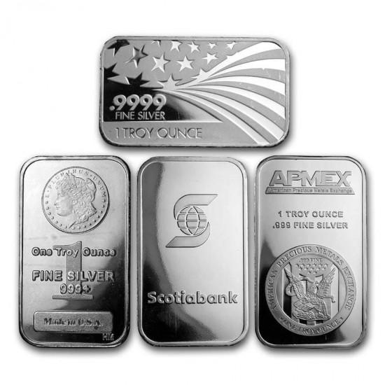1 Oz Assorted .999 Fine Silver Bar