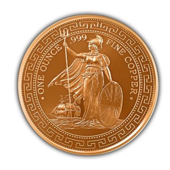 1 oz British Trade Copper Round