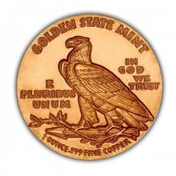 1 Oz Incuse Indian Copper Round