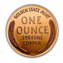 1 Oz Lincoln Wheat Cent Copper Round