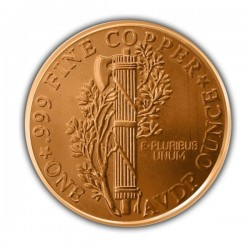 1 Oz Mercury Dime Copper Round