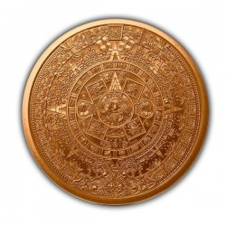 1 Oz Aztec Calendar Copper Round