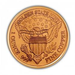 1 Oz Peace Dollar Copper Round