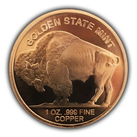 1 Oz Buffalo Nickel Copper Round