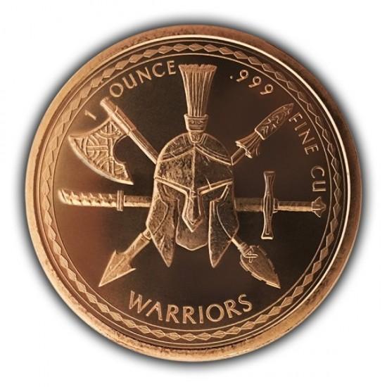 1 Oz Spartan Warrior Copper Round