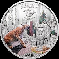 2015 1/2 Oz Cook Island World of Hunting (Lynx)
