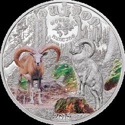 2015 1/2 Oz Cook Island World of Hunting (Mouflon)