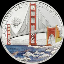 2016 Palau Proof Silver World of Wonders (Golden Gate Bridge)