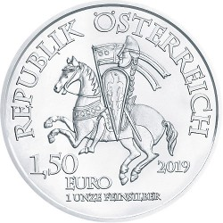 2019 1 Oz Austrian 825th Anniversary Robin Hood Silver (BU)