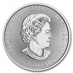 2020 2 Oz Canadian Kraken Silver Coin (BU)