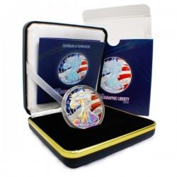 2014 1 Oz US Flag Holographic American Eagle