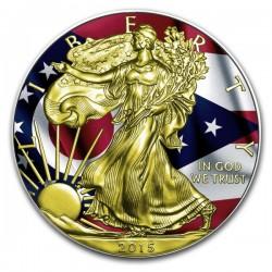 2015 1 Oz Ohio Flag American Eagle Gilded