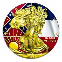 2015 1 Oz Mississippi Flag American Eagle Gilded