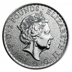 2016 1 Oz UK Silver Britannia Patriotic Flag