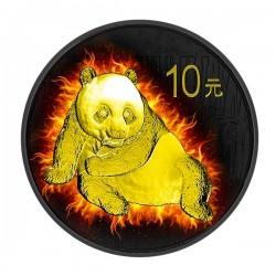 2015 1 Oz Burning Ruthenium Gilded Panda