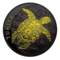 2016 1 Oz Niue Ruthenium Turtle Gilded