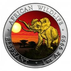 2016 1 Oz Sunset African Elephant