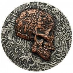 2017 1 Oz Cameroon Carved Skull