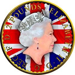 2017 1 Oz UK Silver Britannia Patriotic Flag