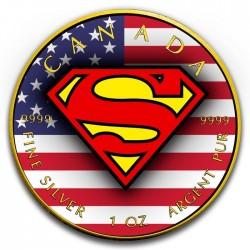 2016 1 Oz RCM US Flag Superman Shield
