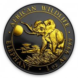 2016 1 Oz Ruthenium Gilded Elephant