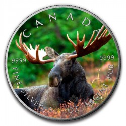 2016 1 Oz Moose Antique Maple Leaf