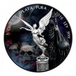 2016 1 Oz Mexican Libertad Santa Muerte Ruthenium
