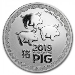 2019 1 Oz Niue Lunar Year Of The Pig