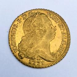 1772 Brazil Gold 6400 Reis (Bahia)