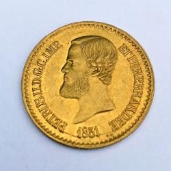 1851 Brazil Gold 20000 Reis