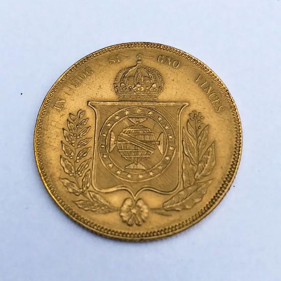 1853 Brazil Gold 20000 Reis