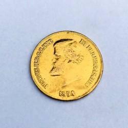 1854 Brazil Gold 10000 Reis