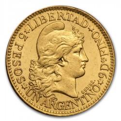 1881 Argentina Gold 5 Pesos
