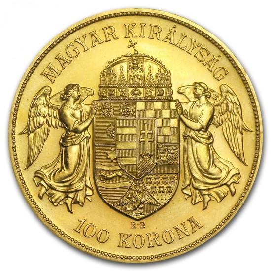 1908 Hungary Gold 100 Korona Restrike
