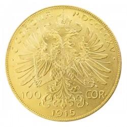 1915 Austrian Gold 100 Korona Restrike