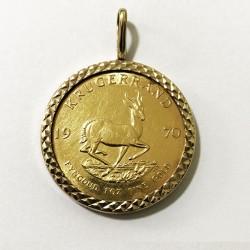 1970 1 Oz South Africa Gold Krugerrand Pendant