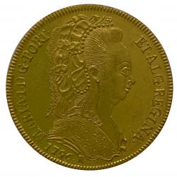 1776 Brazil Gold 6400 Reis