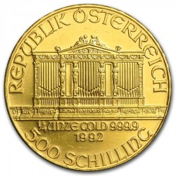 1992 1/4 Oz Austrian Gold Philharmonic