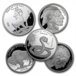 2 Oz Assorted .999 Fine Silver Round