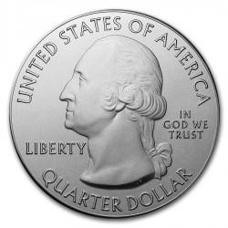 2016 5 Oz Fort Moultrie Quarter Dollar Round