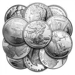 1 Oz Assorted .999 Fine Silver Round